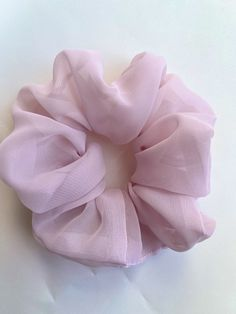 Excited to share the latest addition to my #etsy shop: Large chiffon scrunchie , big pink scrunchie , black bridesmaid gifts , purple hair tie , boho scrunchie , chiffon hair accessories , tulle