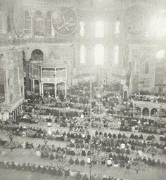Prayer at Hagia Sophia Mosque, Istanbul, 1860-1890 (Osmanlı Dönemi Ayasofya Camii)