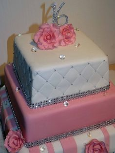 sophisticated sweet 16 cake ideas for girls 16th Birthday Cake For Girls, 19th Birthday Cakes, Sweet 16 Birthday Cake, Sweet Sixteen Cakes, Sweet 16 Cakes, Beautiful Cakes, Amazing Cakes, One Layer Cakes, Quinceanera Cakes