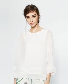 Image 2 of KIMONO SLEEVE TOP from Zara
