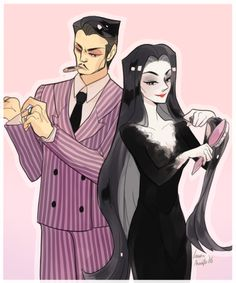 the addams family fanart Gomez And Morticia, Morticia Addams, Die Addams Family, Character Art, Character Design, Tim Burton Characters, Goth Art, Fanart, Beetlejuice