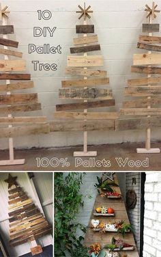10 DIY Pallet Trees - 100% Pallets #Wood | #Pallet Furniture