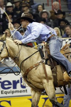 Calgary Stampede Disqualifies Tuf Cooper of Decatur, Texas, For Whipping Horse During Event-Stampede officials have made the unprecedented move of eliminating a competitor because of the alleged mistreatment of his horse. Using a rope as punishment or correction is unacceptable under the Stampede's animal care protocols.