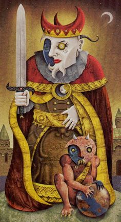 Deviant Moon Tarot - King of Swords