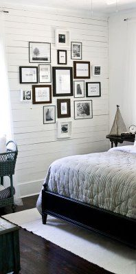 would love to add horizontal boards on a wall or 10