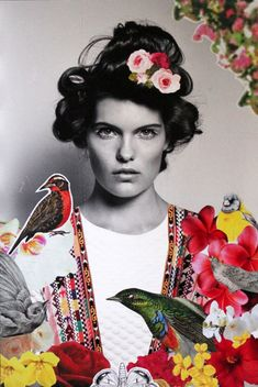 Jovanca, collage, 21x 14 Constanza Ragal, la artista chilena que lleva el imaginario de la moda a la pintur