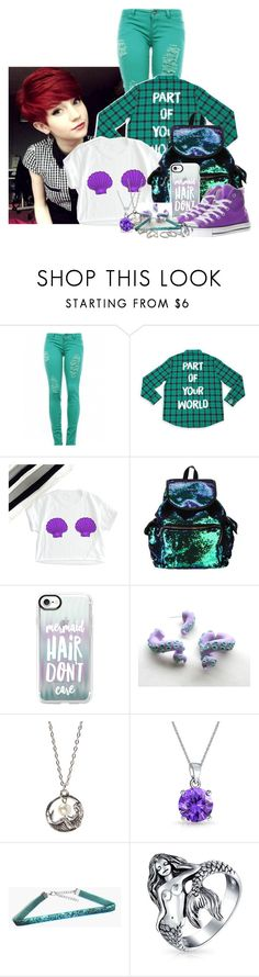 """""""~Modern Ariel~"""" by liesybug ❤ liked on Polyvore featuring Casetify, Converse, Bubbly Bows, Bling Jewelry, Kendra Scott and modern"""