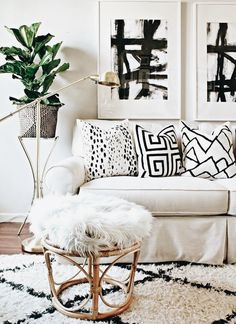 Black & white sophisticated boho