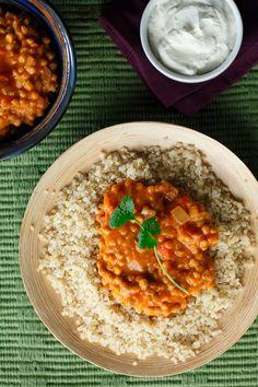 Coconut Thai Curry Lentils with Quinoa