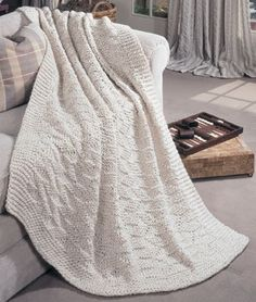 Traditional Knit Afghan