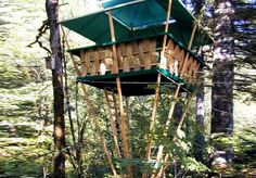 Hooch Bamboo Treehouses Have the World's Smallest Foundation #treehouses trendhunter.com
