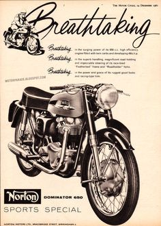 Vintage Brochures: Norton 1961 (UK)
