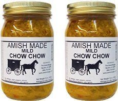 Chow chow is a spicy relish made from green tomatoes. It's excellent as a condiment for meats, on a sandwich, or even as an appetizer with crackers.