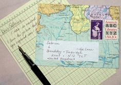 Making the invitation kind of like a postcard may be a neat idea.