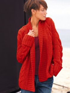Cableknit Bed Jacket