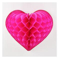 coeur alvéolé rose fuchsia