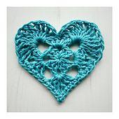 Free Ravelry pattern: Granny Heart pattern by Crochet Tea Party