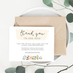Business Thank You Card Template Printable Business Thank You Cards Template  Olivia  Ecommerce Web .
