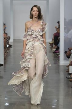 Zimmermann Spring 2017 Ready-to-wear collection Australia designer new york fashion week collection style runway Stranded Opus Tier Dress, Stranded Lace Pant, Lace Up Long Boot
