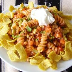 Taco Pasta Salad Allrecipes.com  Want to try.