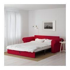 IKEA - BACKABRO, 3er-Bettsofa, Nordvalla rot, , Taschenfedern entlasten den…