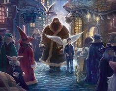 Kazu Kibiushi ilustra las nuevas portadas americanas de los libros de Harry Potter