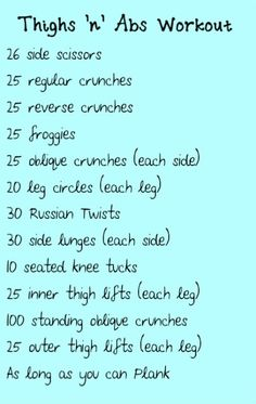 The Thighs n Abs Workout