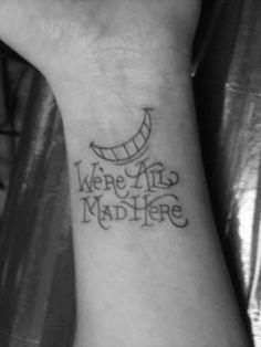 cats, tattoo idea, cat quotes, cheshire cat, tattoos, alice in wonderland, a tattoo, cheshirecat, ink