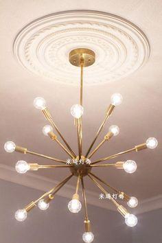 17 tête Moderne pendentif lampe minimaliste maison de la Nord Américain restaurant salon chambre or pendentif lumière dans Lampes Suspendues de Lumières et Éclairage sur AliExpress.com | Alibaba Group