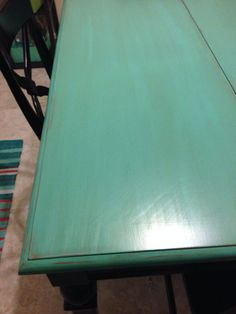 painted refinished kitchen tables | Kitchen table refinished. Painted and seasoned.
