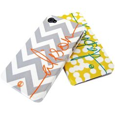 Personalized Cell Phone Cover (You can choose from over 30 background patterns and font colors for name personalization.)