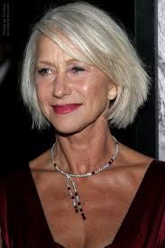 Image result for a line bob hairstyles silver hair