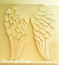 Beautiful Wings (cardboard and paper mache)