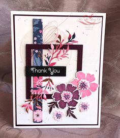 Everything is Rosy Created by Tracie St-Louis 2019 On Stage Quebec Everything's Rosie, Christmas Rose, Card Sketches, Paper Cards, Stamping Up, Flower Cards, Homemade Cards, Stampin Up Cards, Thank You Cards