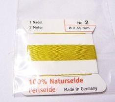 Edelsteine-Welt - Perlseide, Naturseide 0,45 Gelb