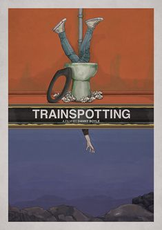 Trainspotting is a 1996 British crime comedy drama film directed by Danny Boyle. Based on the novel of the same name by Irvine Welsh Best Movie Posters, Minimal Movie Posters, Cinema Posters, Movie Poster Art, Poster S, Cool Posters, Film Movie, Plakat Design, Movies And Series