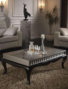 Belgrado Coffee Table White or Black with Lacquered Finish £659.99