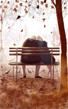 To share the vibes of love and romance, we've collected the big and impressive set of illustrations by famous artist Pascal Campion. Autumn Illustration, Digital Illustration, League Of Legends Art, Pascal Campion, Buch Design, Autumn Art, Couple Art, Belle Photo, Amazing Art