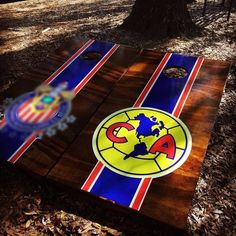 Club America Soccer Cornhole Set With Bean Bags – Cornhole By Blake