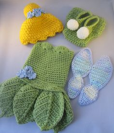 Baby Fairy Handmade Crocheted Outfit/ Halloween Costume/ Photography Prop by LightsCameraCrochet on Etsy
