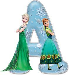 Frozen Alphabet - Free Full Alphabet is available when you click through this link Frozen Birthday Party, Frozen Tea Party, 2nd Birthday Party For Girl, Frozen Theme, Frozen Font, Festa Frozen Fever, Kids Cartoon Characters, Disney Characters, Fictional Characters