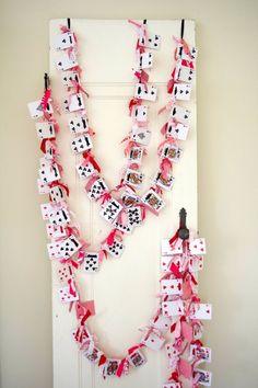 Casino Night ; playing cards garland
