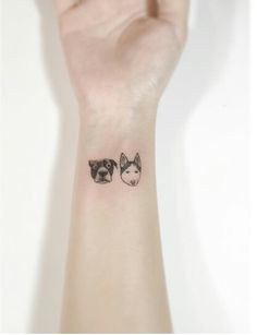 Tiny cute Dog tattoo