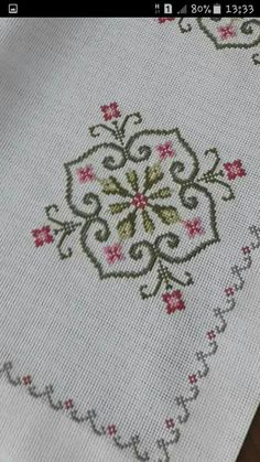 This Pin was discovered by Neş Simple Embroidery, Embroidery Patterns Free, Hand Embroidery, Embroidery Designs, Cross Stitch Borders, Cross Stitch Designs, Cross Stitching, Cross Stitch Patterns, Hardanger Embroidery