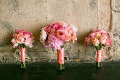 Glamorous Pink Wedding Bouquets | Erin Johnson Photography | See More! http://heyweddinglady.com/romantic-industrial-glam-wedding-from-erin-johnson-photography/