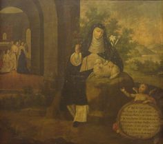"""Saint of the Day – 20 April – St Agnes of Montepulciano O.P. (1268-1317) Religious Nun and Abbess """"The Miracle Worker"""" – Attributes – Dominican Nun with a lily and a lamb.   Her Body is incorrupt and her major Shrine is Church of St Agnes, Montepulicano, Siena, Italy......"""