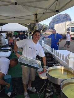 Nephew Josh getting ready to fry Banana Donuts at PIFA 2015 in San Diego.