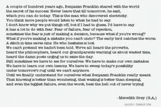 My favorite Meredith quote! There's a lot of good ones, actually.