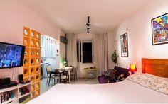 quitinete de 28 m² abusa de praticidade e integração na reforma (mini studio)