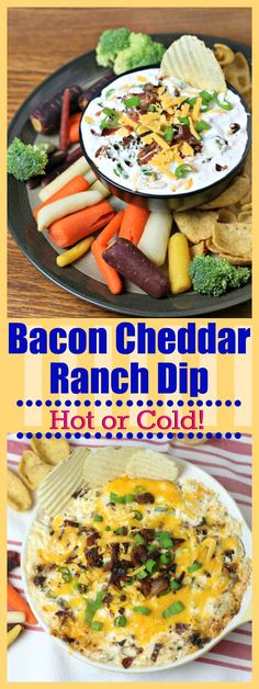 Bacon Cheddar Ranch Dip is an IRRESISTABLE Party or Game Day Appetizer that's full of bacon, cheese, green onions, cream cheese and ranch dressing mix! Click to read more!